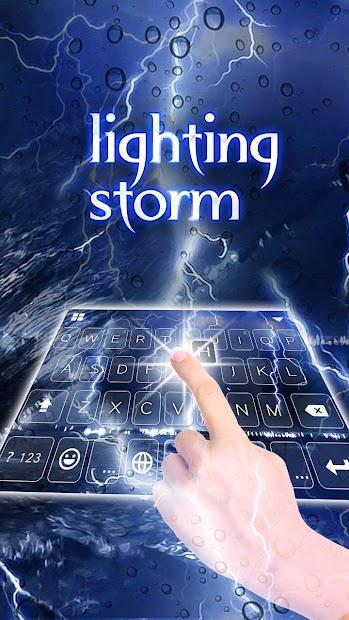 Lightingstorm Keyboard Theme Android App Screenshot