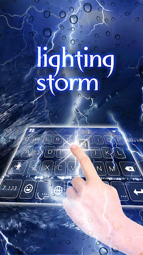 Lighting Storm Keyboard Theme Android App Screenshot