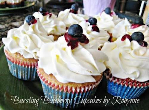 "Bursting Blueberry Cupcakes ""My youngest loves anything blueberry and I was proud..."