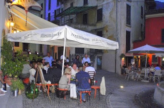 Photo: Aperitifo under the stars in Argegno.