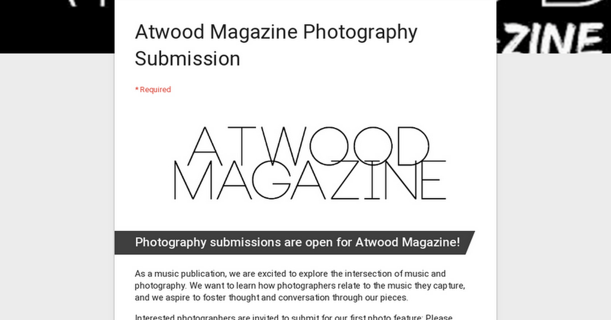 Atwood Magazine Photography Submission