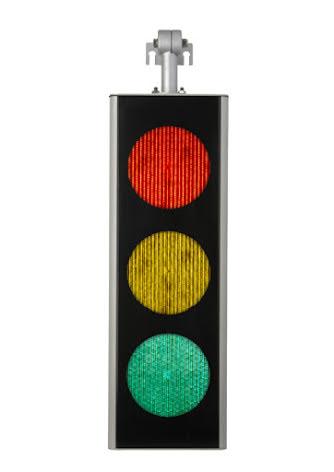 Green Light signal 200 mm 3-lys tophængt til galgemast
