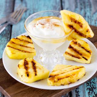 Grilled Pineapple + Honey Cinnamon Yogurt Dip