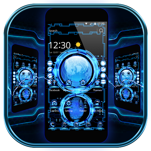 Technology Blue 3D Theme