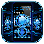 Technologie Blue 3D Theme