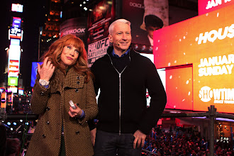 Photo: Kathy Griffin and Anderson Cooper in Times Square, New Years Eve 2013. Photo credit: David S. Holloway