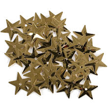 Sequins 18mm 50/Pkg - Gold Stars UTGÅENDE