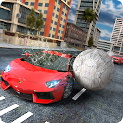 Reckless Car Driving: Rolling Ball Car Crash Drive