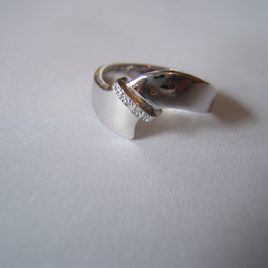 Abstract with diamonds ring