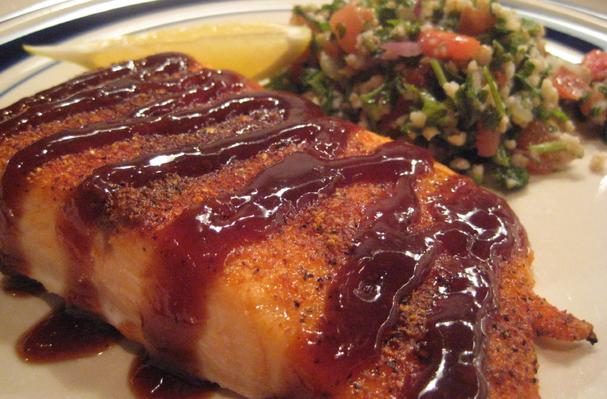 Spice-Rubbed Lemon Barbecue Salmon Recipe