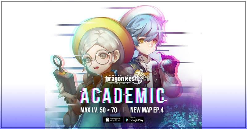 World of Dragon Nest อัปเดตตัวละครใหม่ Academic