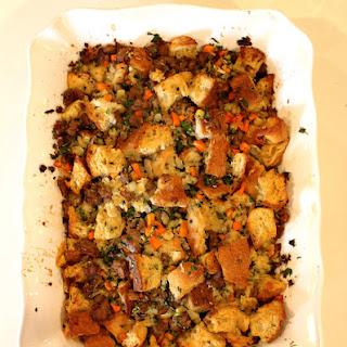 Ciabatta and Sausage Stuffing Recipe