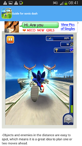 guide for sonic dash 2016