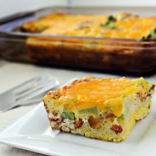 Quiche with Bacon and Broccoli.