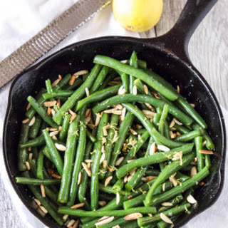 Brown Butter Green Beans with Slivered Almonds.