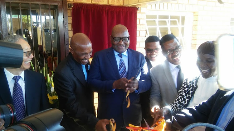 Gauteng premier David Makhura officially opens Menzi Primary School in Langaville, Tsakane, Ekurhuleni.