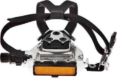 Wellgo LU-961 Road Pedals Silver with Clips & Straps alternate image 3