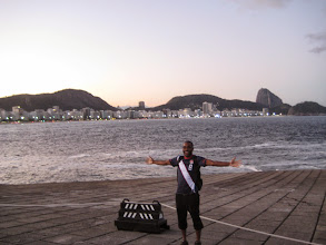 Photo: On top of Forte de Copacabana, with the beach in the background (photo credit: Raj Dhar)