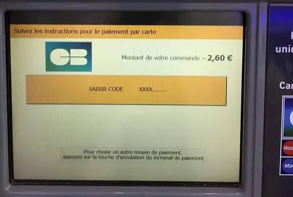 フランスからの郵便送り方自動販売機の使い方