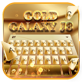 Gold Galaxy S7 J8 keyboard Theme