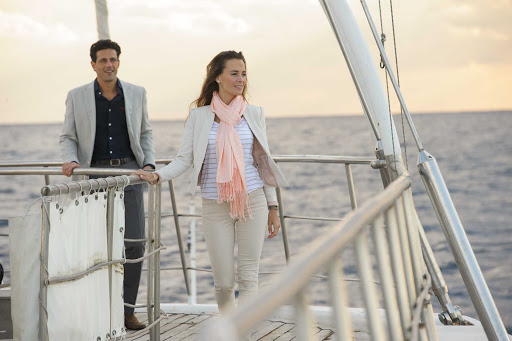 Ponant-Le-Ponant-romance.jpg - Find romance in small, enchanting ports aboard Le Ponant, a sailing yacht with just 32 staterooms.