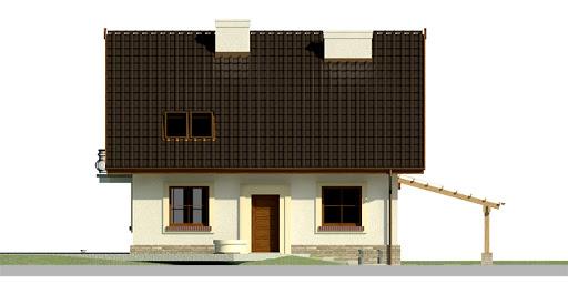 Dom przy Cyprysowej 20 - Elewacja przednia