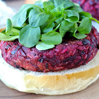 Smoky Black Bean and Beet Burgers [Vegan]