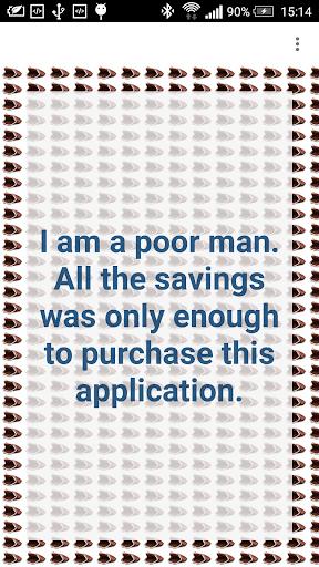 I am a poor man