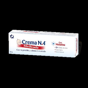 Crema Anti Pañalitis   CREMA N4 Medicada Tubo con Nistatina x60g