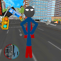 Superboy Stickman Rope Hero Gangster Crime City icon
