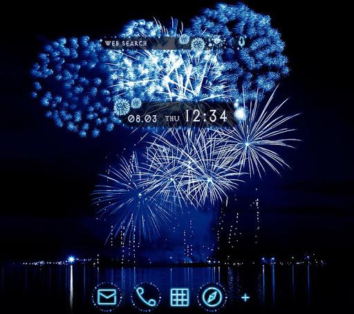 Cool Wallpaper Blue Fireworks Theme 1.0.0 Windows u7528 1
