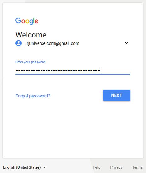 Type your password
