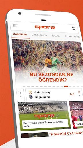 Sporx Spor Haber & Canlı Skor 4.22.09 screenshots 1