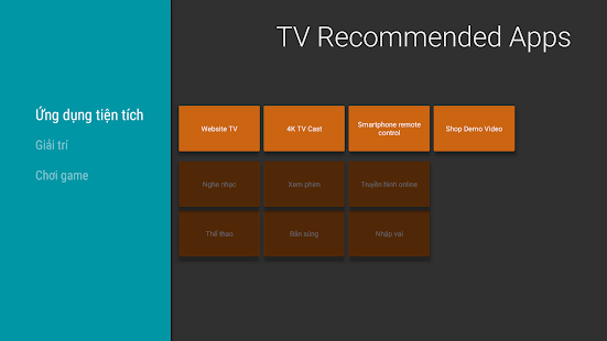 TV Recommended Apps - náhled