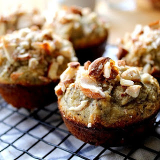 Gluten-Free Buckwheat and Almond Flour Banana Nut Muffin.