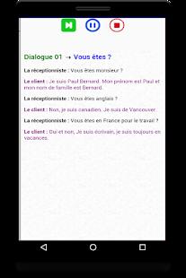 dialogues en français audio avec texte - náhled