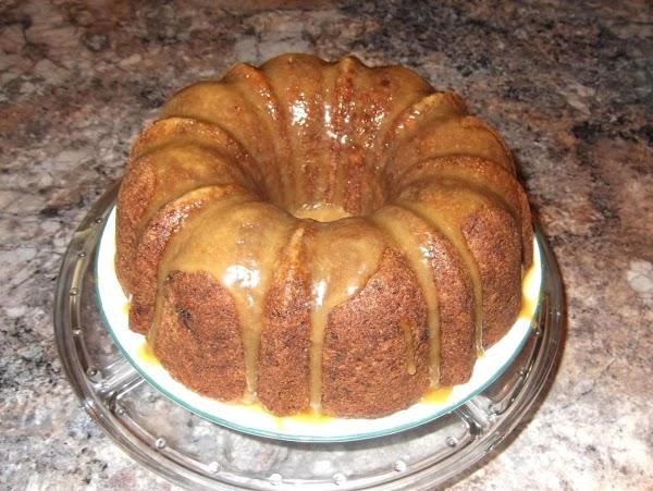 Fresh Apple & Black Walnut Cake With Caramel Glaze Recipe
