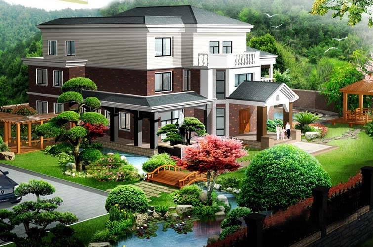Thiết kế ngoại thất hài hòa với tổng thể kiến trúc ngôi nhà