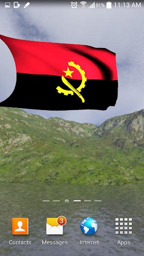 3D Angola Flag Live Wallpaper