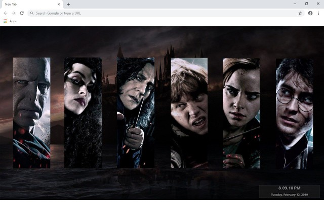 Harry Potter Custom New Tab