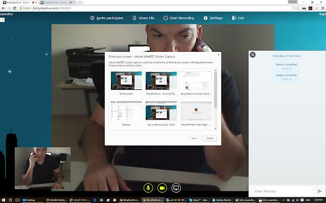 תוסף שיתוף המסך של מס-פיק