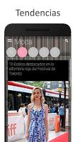 screenshot of Noticias y tendencias