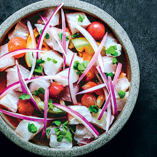Sea Bass and Tomato Ceviche