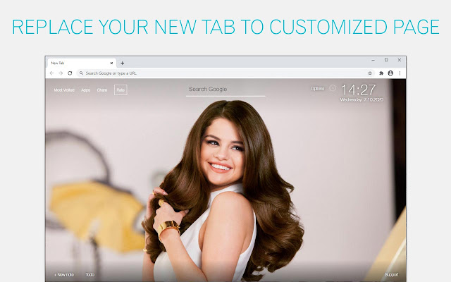 Selena Gomez Wallpapers New Tab freeaddon.com
