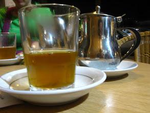 Photo: herbata miętowa z cukrem i szafranem