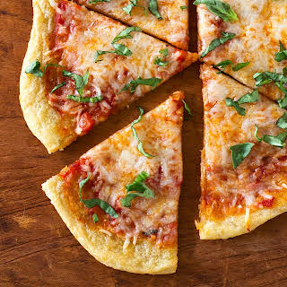 NY Style Thin Crust PIZZA {Easy, 4 Ingredient Veggie-Base Crust}.