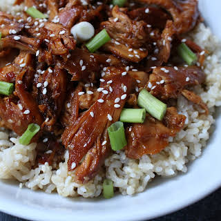 Slow Cooker Sesame Chicken Thighs.