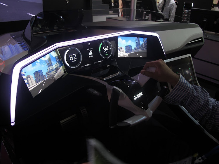 Mitsubishi Electric shows the future of dashboards and driving technology. Picture: MARK SMYTH