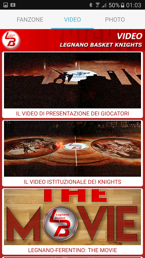 Legnano Basket Knights App- screenshot