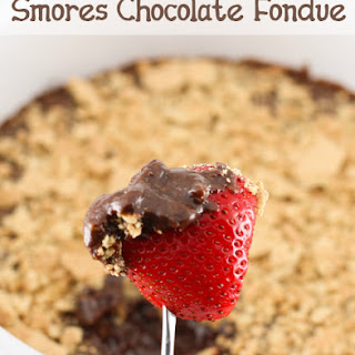 Smores Chocolate Fondue.